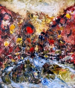FOUNTAIN OF LIFE 55cmx65cm